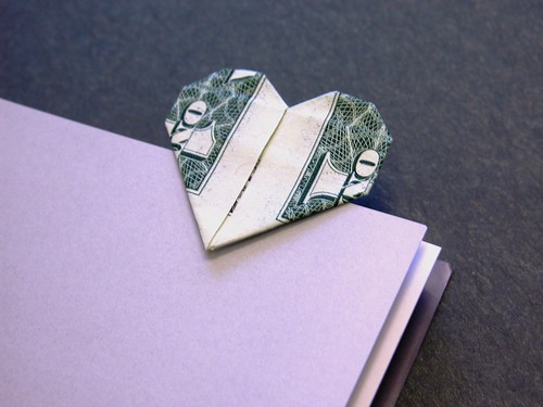 Dollar bill heart bookmark | by FJ Contreras