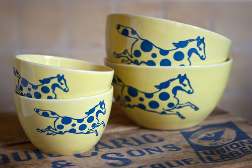 Custard Yellow Nesting Bowls | by rcboisjoli
