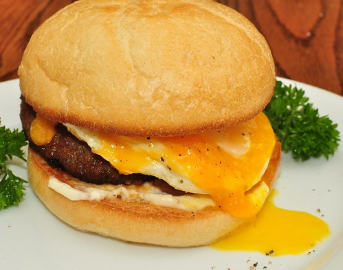 Mmm... sausage, egg, and cheese on a Kaiser roll