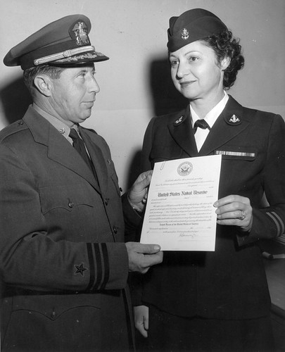 Zilda Decarlo and Naval Reserve Certificate USNAS Los Alamitos | by San Diego Air & Space Museum Archives