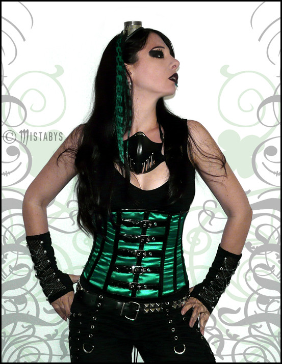 Black Green Gothic Style