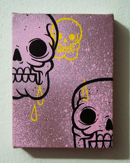 Skull canvas! | by x u r u m e