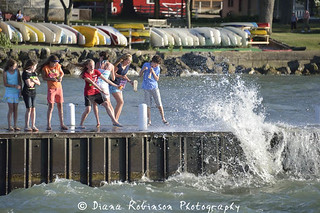 Dodging Waves on the Dock at Lakeside | by diana_robinson