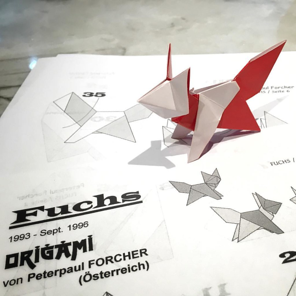 Origami Fox Designed By Peterpaul Forcher Origaminight Flickr