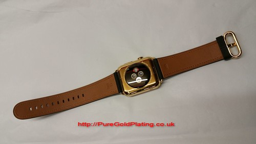 18ct Gold Plated Apple Watch Rear | by PureGoldPlating