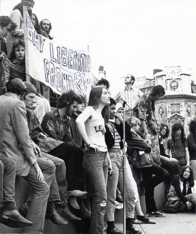 Demonstration, with Gay Liberation Front Banner, c1972