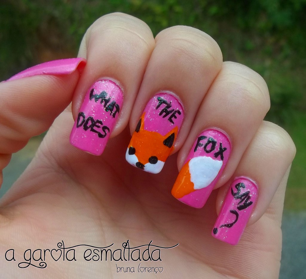 Nail Art: What Does The Fox Say? (The Fox - Ylvis) | Flickr