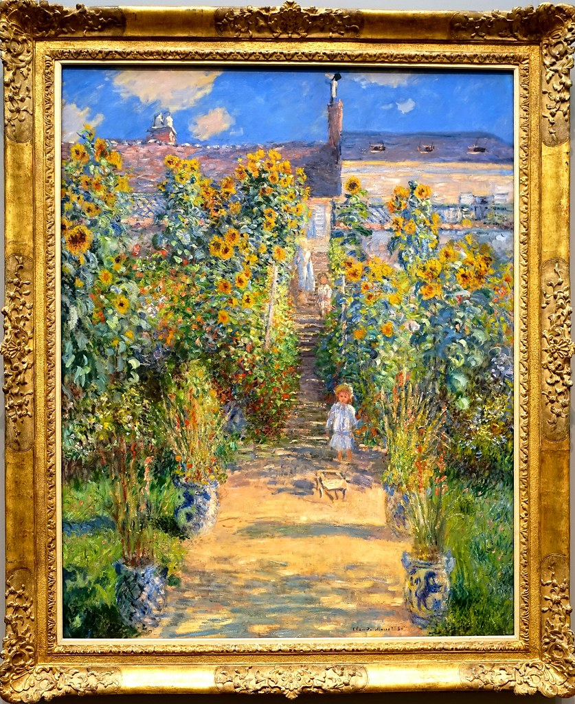 Exhibit At The National The Artistu0027s Garden At Vetheuil By Claude Monet  (1880). Exhibit At The National
