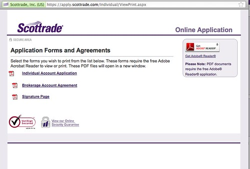 www scottrade com forms and applications