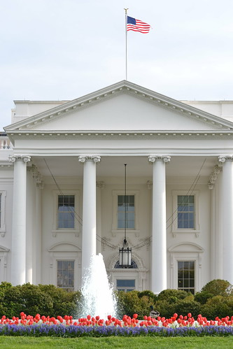 The White House front entrance | The White House during ...