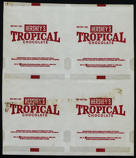 Hershey's - Tropical Chocolate - candy bar 4-wrapper proof - August 1969 | by JasonLiebig