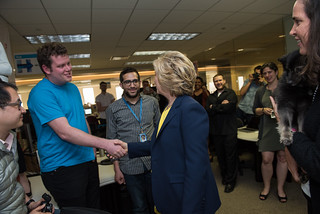 Shaking hands with HRC