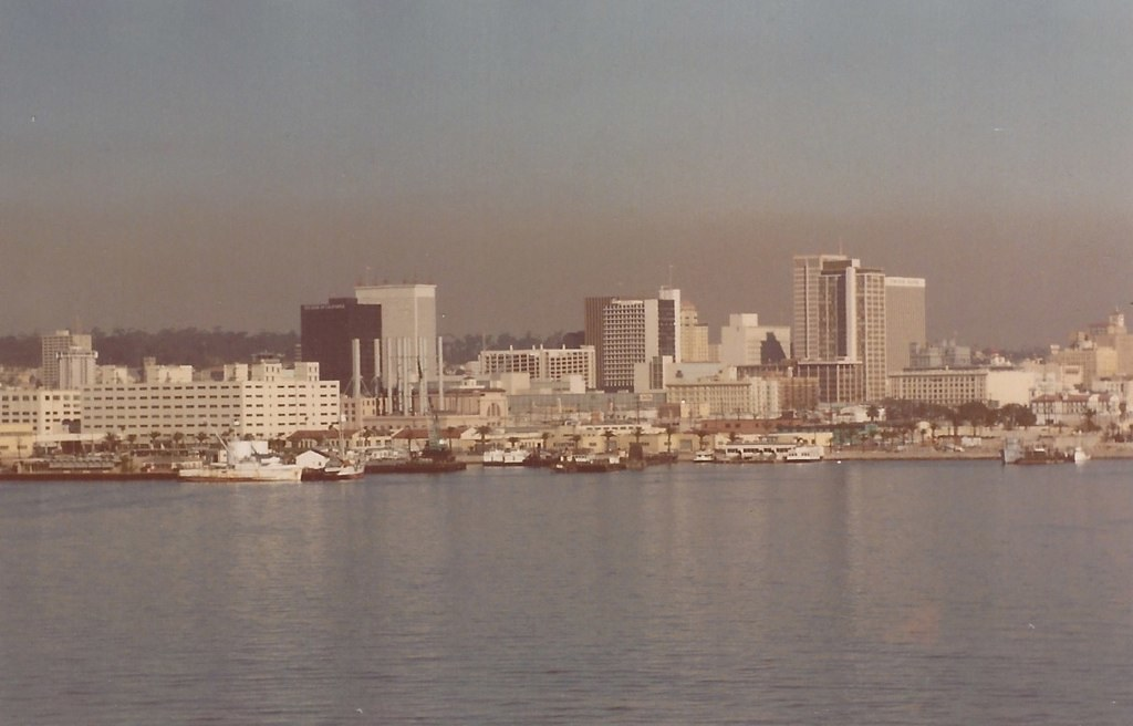 San Diego Skyline From Coronado Abt 1974 Day