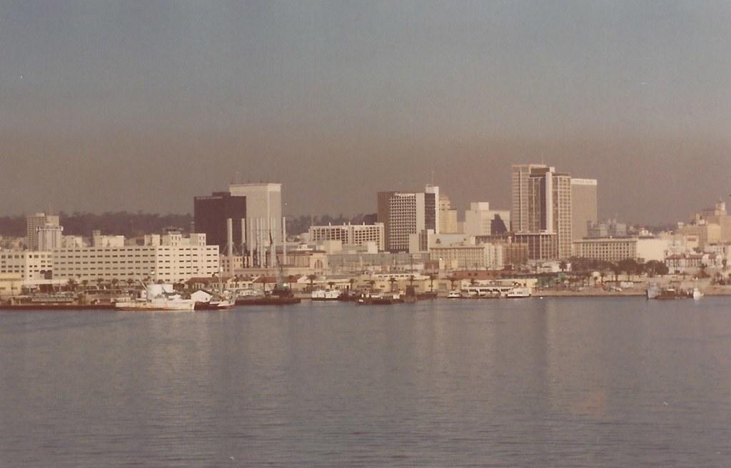 San Diego Skyline From Coronado Abt 1974 Day