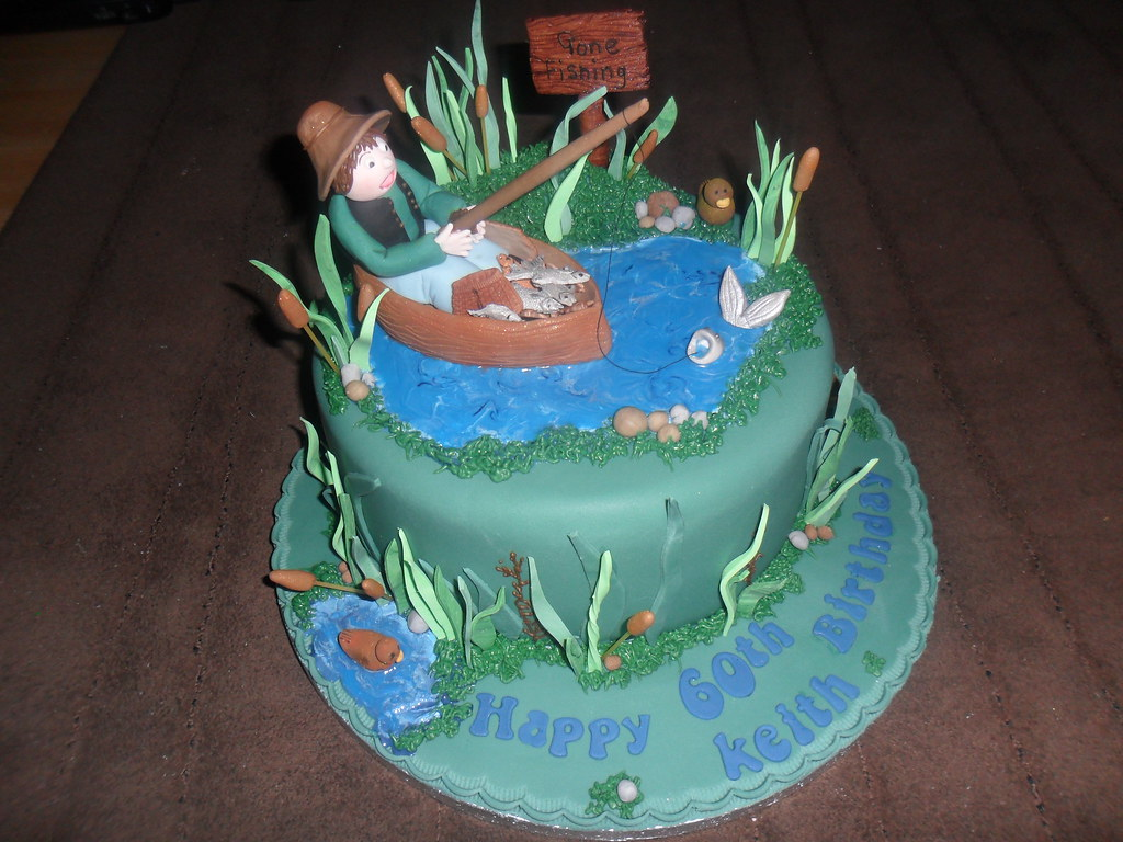 man in a boat fishing birthday cake elizabeth Flickr