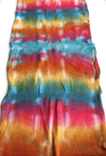 merino sock blanks dyed by Ginny of FatCatKnits | by yarnloopie