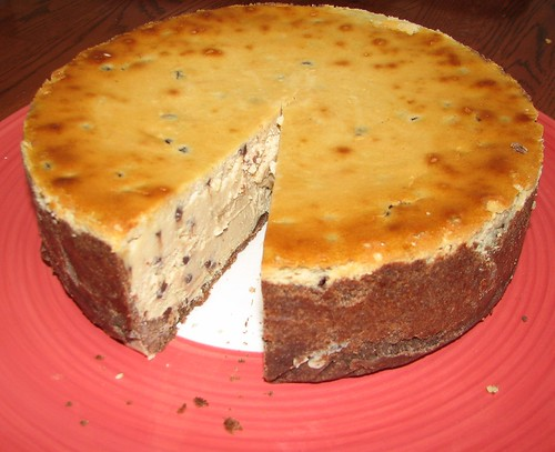 Chocolate Chip Cheesecake With A Cereal Crust