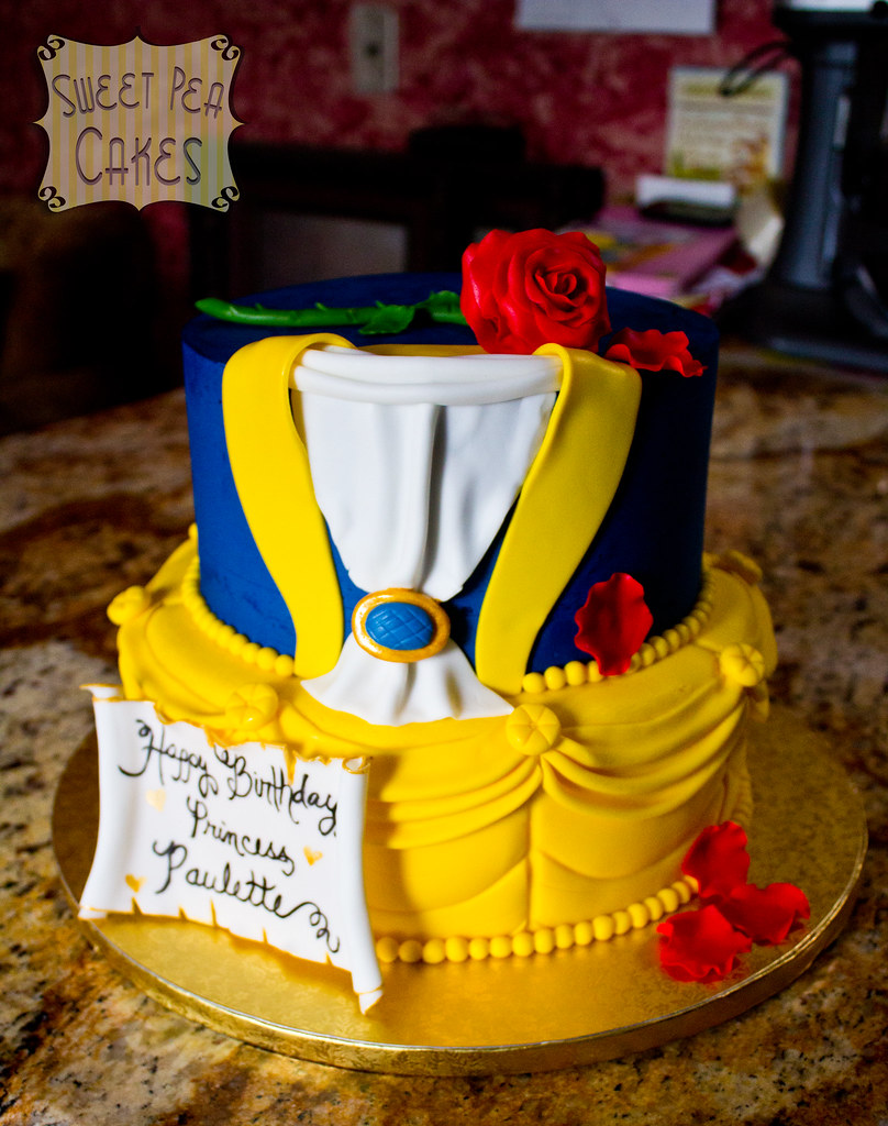 Beauty And The Beast Birthday Cake Two Tier Beauty And The Flickr