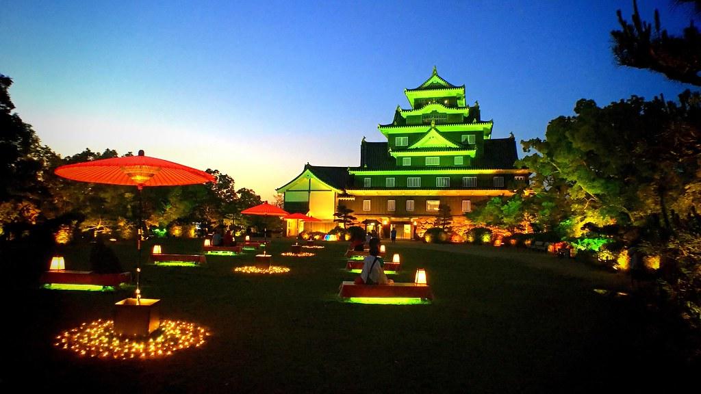 岡山城と後楽園 : Okayama-jo Castle & Koraku-en Garden