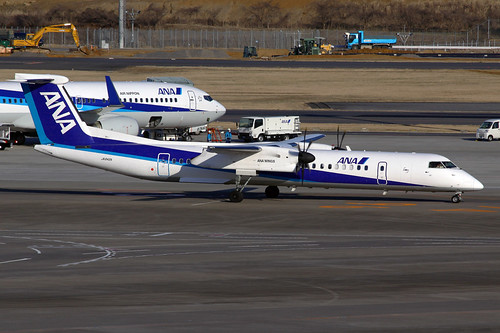 ANA - Air Nippon Network DeHavilland DHC-8Q-402 JA842A NRT 21-03-12 | by Axel J. ✈ Aviation Photography