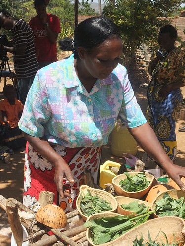 Preparing African Leafy Vegetables, Kyanika Women's Group, Kitui | by Bioversity International