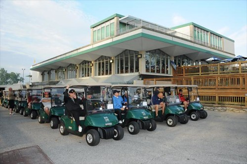 Golfers at brickyard crossing ready for tee time golfers for Indianapolis motor speedway com