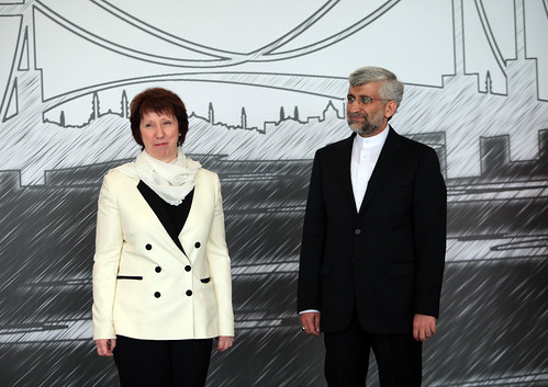 HRVP Catherine Ashton and Iran's chief negotiator Dr. Saeed Jalili | by European External Action Service - EEAS