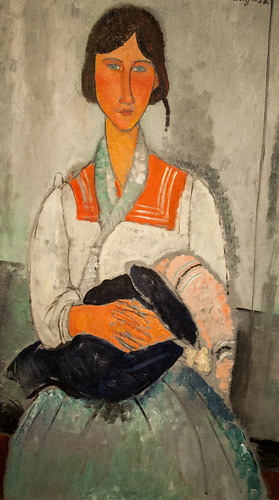 Gypsy Woman with Baby, by Amedeo Modigliani, 1919 | by Alaskan Dude