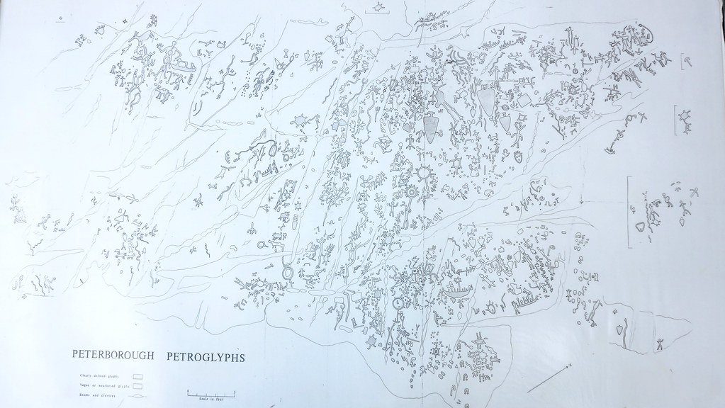 Scale Map Of The Pererborough Petroglyphs The Peterborough Flickr