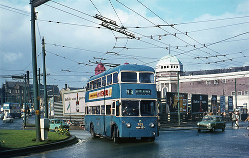 Bradford Trolley 785 in the Centre. 1969 | by David Christie 14