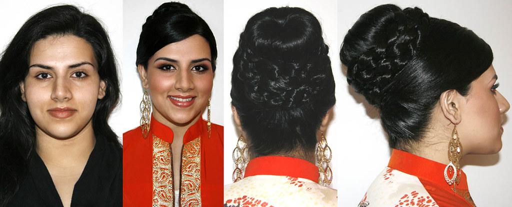 Indian Wedding Hair Bun Updo Long Hair Victoria Flickr