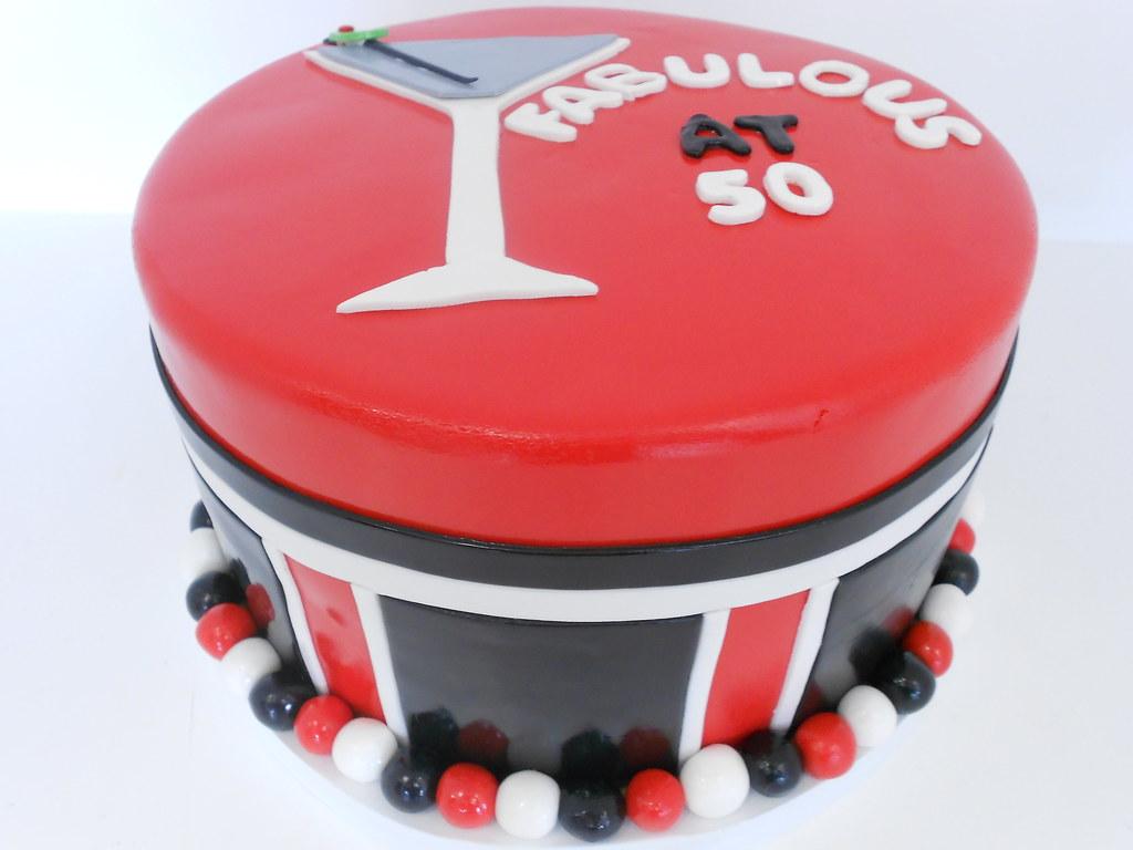 Fabulous At 50 Birthday Cake 1034