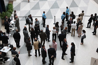 Crowd of people waiting at the International Monetary Fund (IMF) | by World Bank Photo Collection