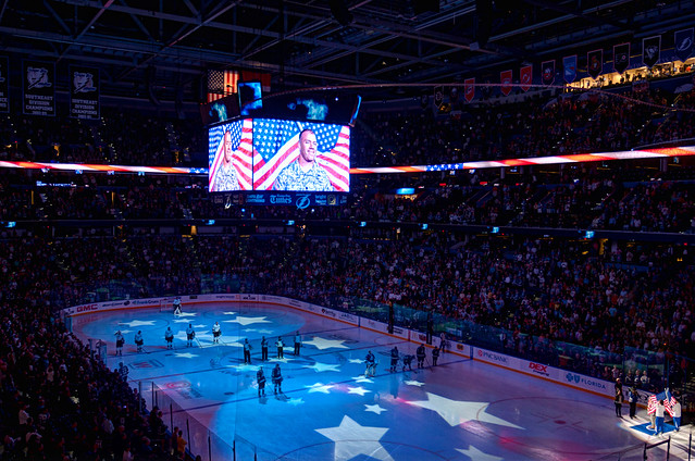 Military Salute at Tampa Bay Times Forum