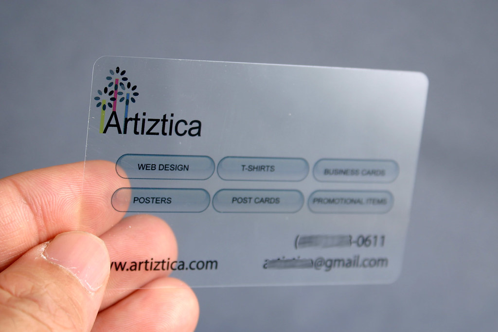 Clear Plastic Business Card | Material : Clear Pet This stoc… | Flickr