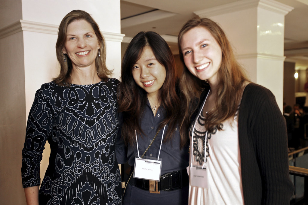 Kathleen Stair With Meister Summer Research Awardees Rachel Wang And Julija  Vinckeviciute | By Matsci.