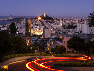 Lombard Street Light Trails (P1250370) | by Michael.Lee.Pics.NYC