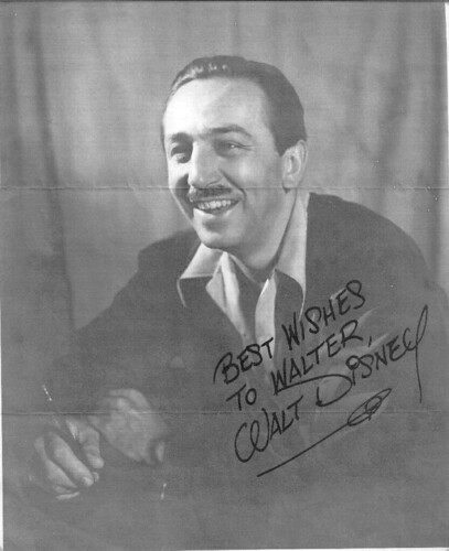 Walt Disney autographed photo | by stoppuller