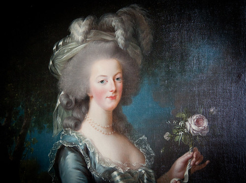 """Marie-Antoinette with a Rose"" by artist Elisabeth Louise Vigee-Lebrun - Petit Trainon - Versailles, France 