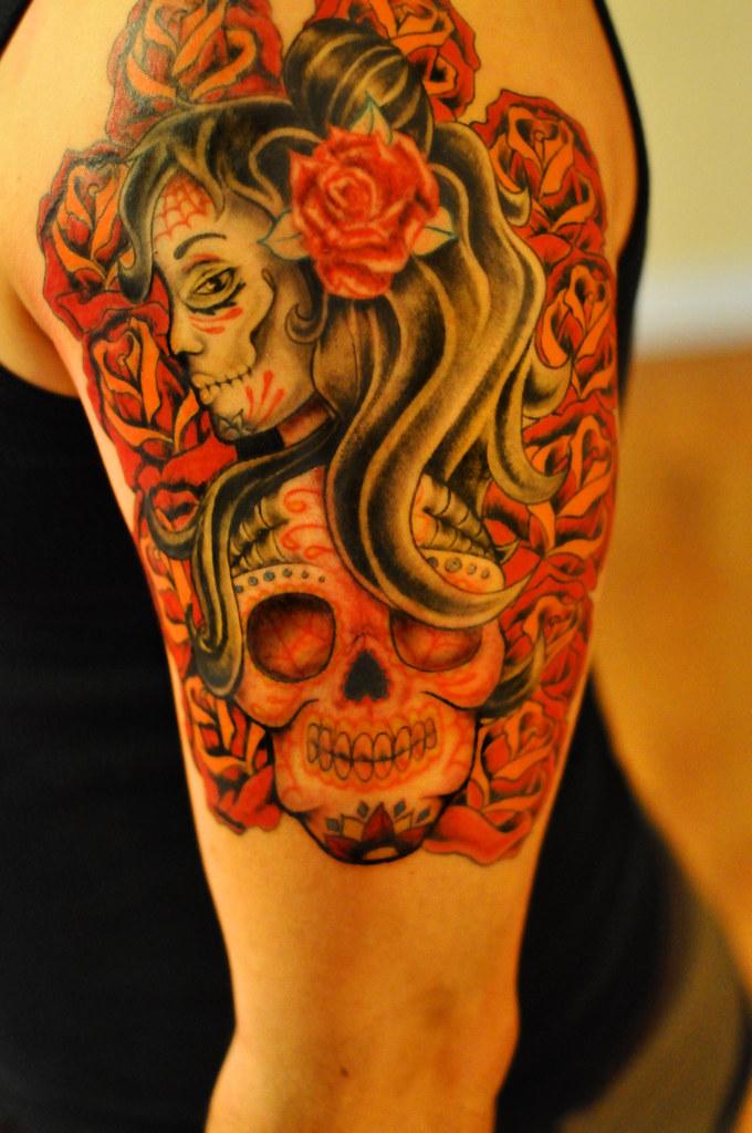 Sugar Skull Tattoo Almost There Tattoo Guy Flickr