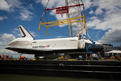 Space Shuttle Enterprise Move to Intrepid (201206060016HQ ...