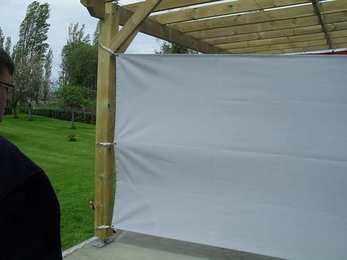 toile brise vent sur une pergola carquefou bois flickr. Black Bedroom Furniture Sets. Home Design Ideas