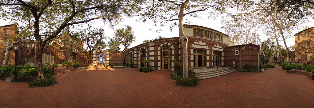 USC Town and Gown Outside | Fisheye view of Town and Gown at… | Flickr