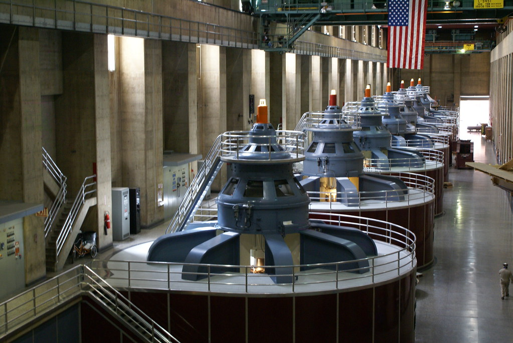 Image result for Hoover dam generators