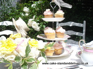 Afternoon Tea 3 Tier Cup cake stand | by Cake Stand & Deliver