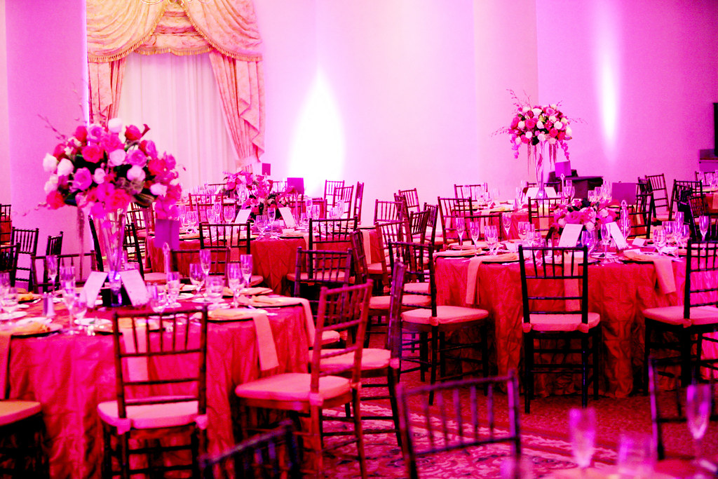 Elegant Wedding Reception With Uplighting Celebrations Event