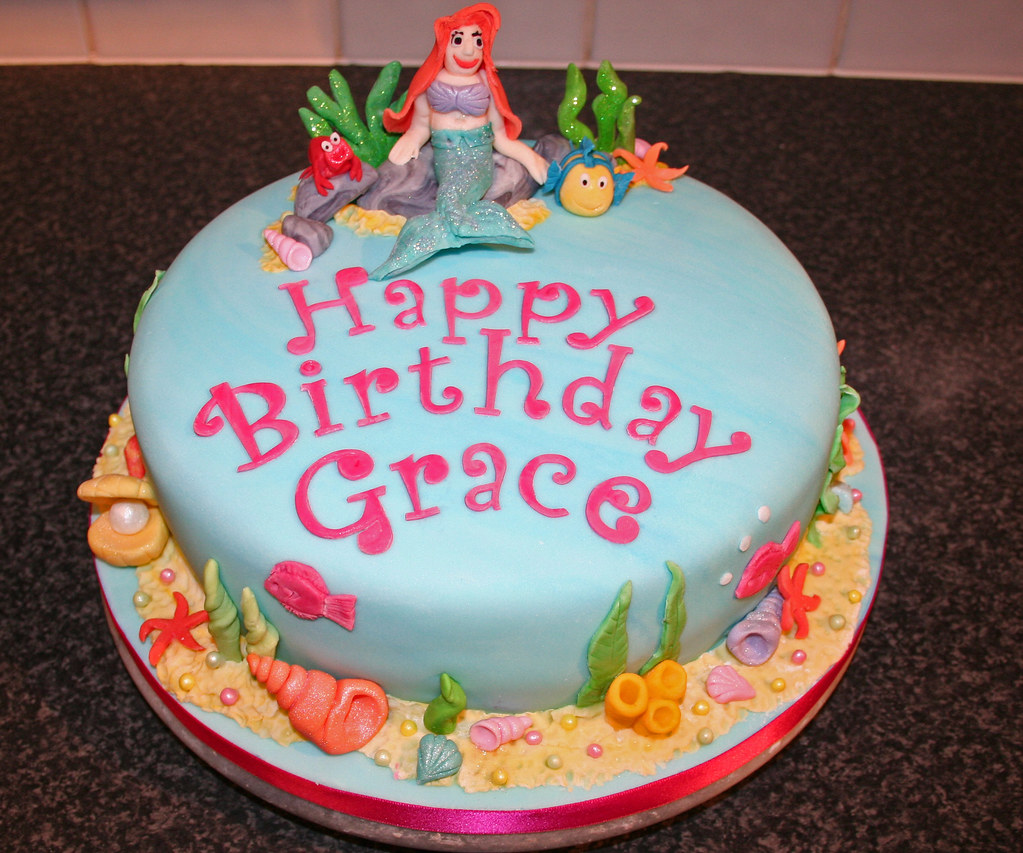 Ariel The Little Mermaid Birthday Cake Janet Whitehead Flickr