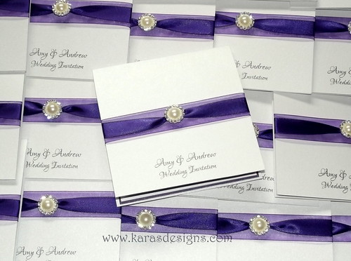 Cadbury Purple Wedding Invitations: Cadbury Purple Wedding Invite