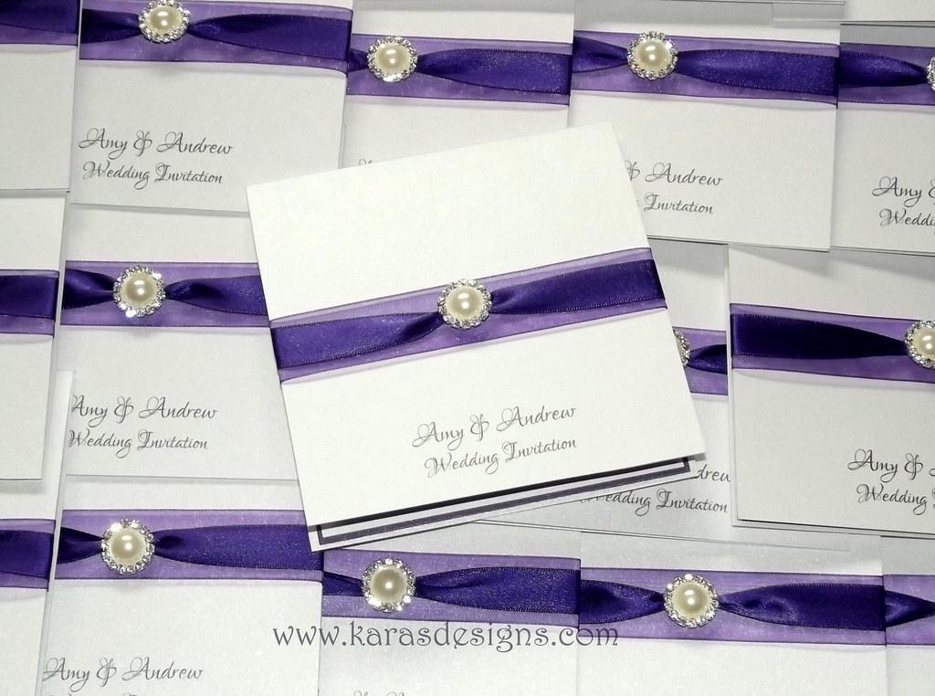 cadbury purple wedding invite | Kara Walker | Flickr