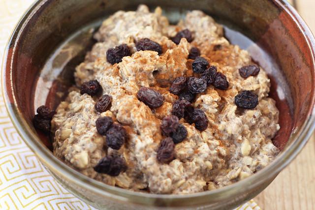 Overnight Chai Oatmeal - Gluten-free, Vegan + Sugar-free